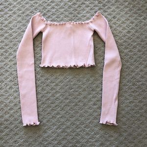 Nasty Gal off the shoulder top, one size